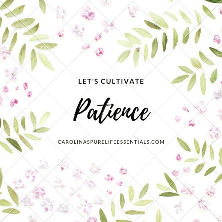 Let's Cultivate Patience